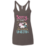 Sorry... Not Tonight Ladies' Triblend Racerback Tank - T-Shirts - Rebel Style Shop