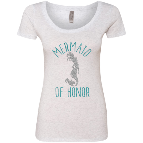 Mermaid of Honor Ladies' Triblend Scoop - T-Shirts - Rebel Style Shop