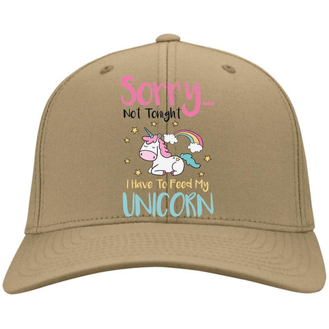 Sorry... Not Tonight. I Have To Feed My Unicorn Caps - Apparel - Rebel Style Shop
