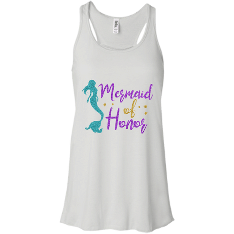 Mermaid Of Honor Flowy Racerback Tank