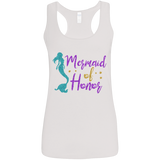 Mermaid of Honor Ladies' Softstyle Racerback Tank - T-Shirts - Rebel Style Shop