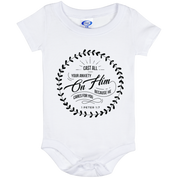 Cast All Your Anxiety On Him Baby Onesie 6 Month - T-Shirts - Rebel Style Shop