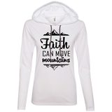 Faith Can Move Mountains  Ladies' LS T-Shirt Hoodie - T-Shirts - Rebel Style Shop