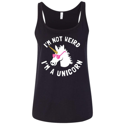 "Funny Ladies Tank Tops - ""I'm Not Weird, I'm A Unicorn"""