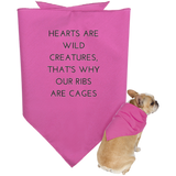 Hearts Are Wild Creatures Doggie Bandana - Pet Accessories - Rebel Style Shop