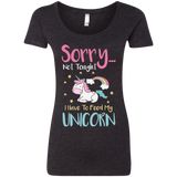 Sorry... Not Tonight Ladies' Triblend Scoop - T-Shirts - Rebel Style Shop