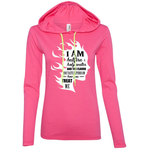 "Feminist Sweatshirt - ""I Am Both Hellfire And Holy Water, And The Flavor You Taste Depends On How You Treat Me"""