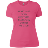 Hearts Are Wild Creatures Ladies' Boyfriend T-Shirt