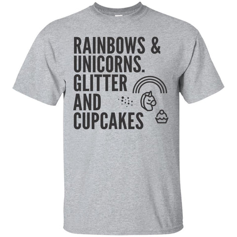 Rainbows And Unicorns, Glitters And Cupcakes Men's Shirts - Apparel - Rebel Style Shop