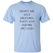 Hearts Are Wild Creatures Youth Ultra Cotton T-Shirt - T-Shirts - Rebel Style Shop