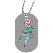Mermaid Pig Dog Tag