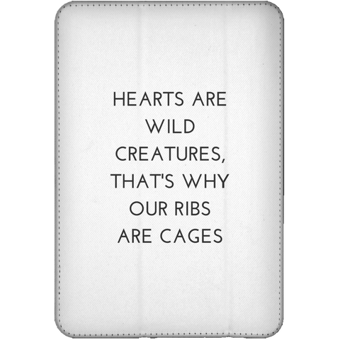 Hearts are Wild Creatures iPad Mini Flip Case - Tablet Covers - Rebel Style Shop