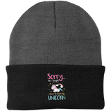 Sorry Not Tonight. I Have To Feed My Unicorn Knit Cap