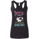 Sorry... Not Tonight Ladies' Softstyle Racerback Tank - T-Shirts - Rebel Style Shop