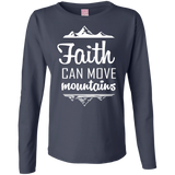 Faith Can Move Mountains Ladies' LS Cotton T-Shirt - T-Shirts - Rebel Style Shop