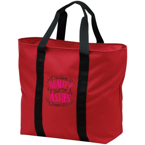 "Christian Bags - ""He Makes Beauty Out Of Ashes"" - Apparel - Rebel Style Shop"