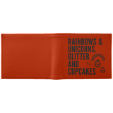 Rainbows And Unicorn, Glitters And Cupcakes Wallet - Apparel - Rebel Style Shop
