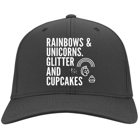 Rainbows And Unicorns, Glitter And Cupcakes Caps - Apparel - Rebel Style Shop