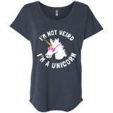 I'm Not Weird, I'm a Unicorn Ladies' Triblend Dolman Sleeve