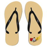 Skull, Rose, Parchment & Wing Flip Flops - Apparel - Rebel Style Shop