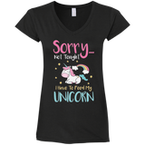 Sorry... Not Tonight Ladies' Fitted Softstyle 4.5 oz V-Neck T-Shirt