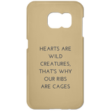 Hearts are Wild Creatures Samsung Galaxy S7 Phone Case