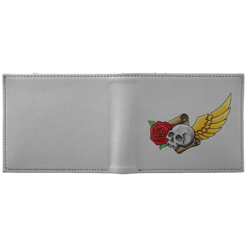 Skull, Rose, Parchment & Wing Bags Wallet