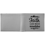 "Christian Gifts - ""Faith Can Move Mountains"" Wallet - Apparel - Rebel Style Shop"