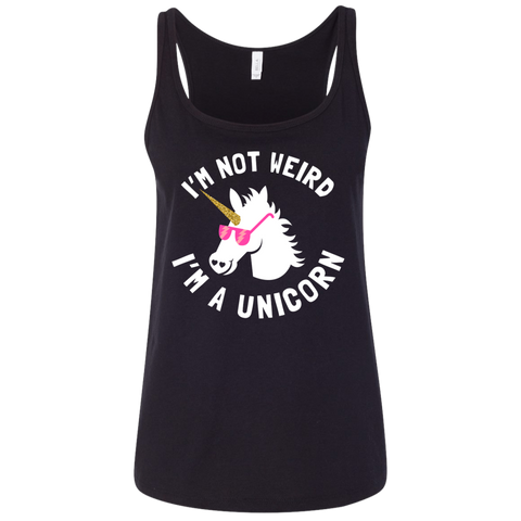 I'm Not Weird I'm a Unicorn Ladies' Relaxed Jersey Tank