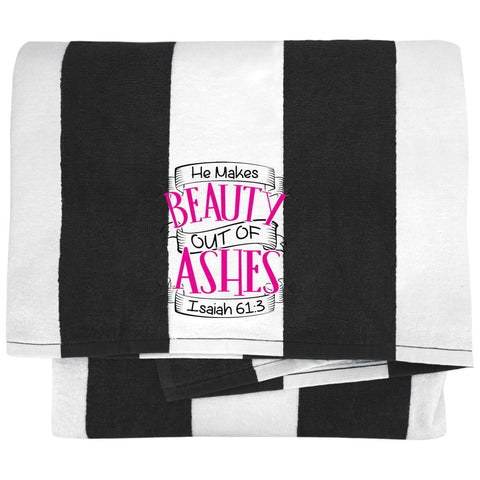 He Makes Beauty Out Of Ashes Towels - Apparel - Rebel Style Shop