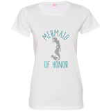 Mermaid Of Honor Ladies' Fine Jersey T-Shirt