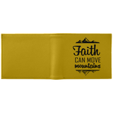 Faith Can Move Mountains White Wallet for dark designs - Apparel - Rebel Style Shop