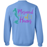 Mermaid Of Honor Crewneck Pullover Sweatshirt 8 oz. - Sweatshirts - Rebel Style Shop
