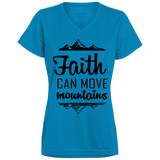 Faith Can Move Mountains Ladies' Wicking T-Shirt - T-Shirts - Rebel Style Shop