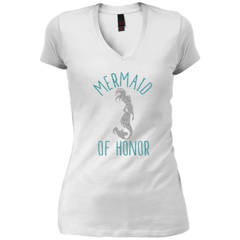 Mermaid Of Honor Vintage Wash V-Neck T-Shirt