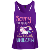 Sorry... Not Tonight Racerback Tank Top - T-Shirts - Rebel Style Shop