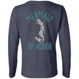 Mermaid Of Honor Ladies' LS Cotton T-Shirt