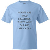 Hearts Are Wild Creatures Beefy T-Shirt - T-Shirts - Rebel Style Shop