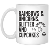 Rainbows And Unicorns, Glitters And Cupcake Mugs - Apparel - Rebel Style Shop