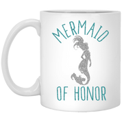 Mermaid Of Honor 11 oz. White Mug - Drinkware - Rebel Style Shop