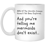 "Custom Mugs - ""88% Of The World's Oceans Haven't Yet Been Explored"""