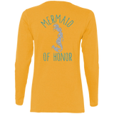 Mermaid Of Honor Ladies' Cotton LS T-Shirt