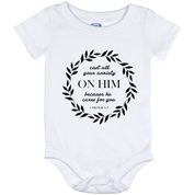 Cast All Your Anxiety On Him Baby Onesie 12 Month - T-Shirts - Rebel Style Shop