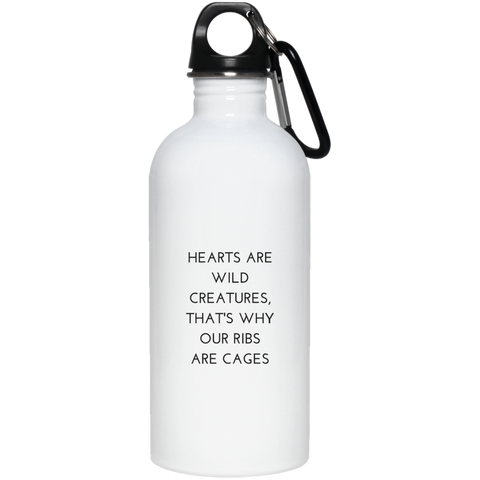 Hearts are Wild Creatures Stainless Steel Water Bottle