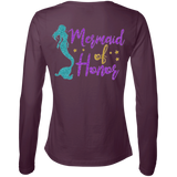 Mermaid Of Honor Ladies' LS Cotton T-Shirt - T-Shirts - Rebel Style Shop