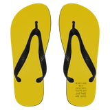 "Custom Flip Flops - ""Hearts Are Wild Creatures, That's Why Our Ribs Are Cages"""