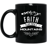 "Christian Gifts - ""Faith Can Move Mountains"" Mugs - Apparel - Rebel Style Shop"