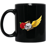 Skull, Rose, Parchment & Wing Mugs