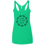 Cast All Your Anxiety On Him Ladies' Triblend Racerback Tank - T-Shirts - Rebel Style Shop
