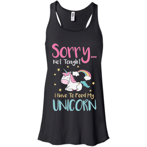 Sorry... Not Tonight Flowy Racerback Tank - T-Shirts - Rebel Style Shop